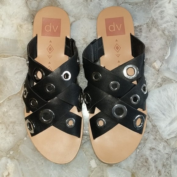 90ba0ef20df5 DV by Dolce Vita Shoes - 🌼 DV Dolce Vita Adrianna Black Grommet Sandals